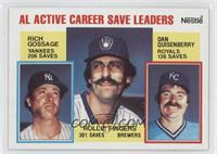 AL Active Career Save Leaders (Rich Gossage, Dan Quisenberry, Rollie Fingers)