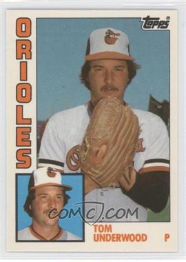 1984 Topps Traded Tiffany #123T - Tom Underwood