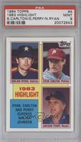 1983 Highlight - Nolan Ryan, Steve Carlton, Gaylord Perry [PSA 9]