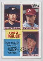 1983 Highlight - Nolan Ryan, Steve Carlton, Gaylord Perry