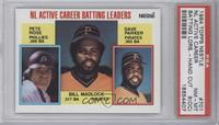 NL Active Career Batting Leaders (Pete Rose, Bill Madlock, Dave Parker) [PSA&nb…