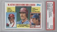NL Active Career Home Run Leaders (Dave Kingman, Mike Schmidt, Tony Perez) [PSA…