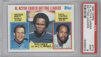 AL Active Career Batting Leaders (George Brett, Rod Carew, Cecil Cooper) [PSA&n…