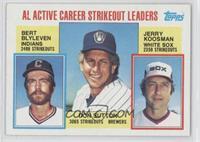 Career Leaders - AL Active Career Strikeout Leaders (Bert Blyleven, Don Sutton,…