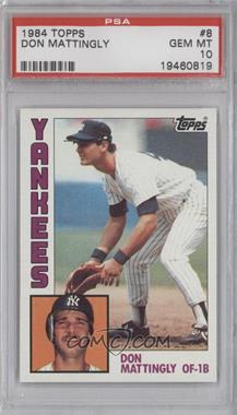 1984 Topps #8 - Don Mattingly [PSA 10]