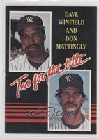 Dave Winfield, Don Mattingly (yellow lettering)