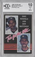 Dave Winfield, Don Mattingly (white lettering) [ENCASED]