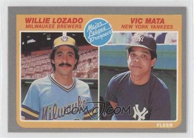 1985 Fleer - [Base] #644 - Willie Lozado, Victor Mata