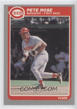 1985 Fleer #550 - Pete Rose
