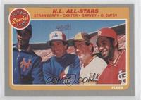 N.L. All-Stars (Darryl Strawberry, Gary Carter, Steve Garvey, Ozzie Smith)