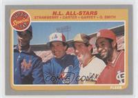 N.L. All-Stars (Darryl Strawberry, Gary Carter, Steve Garvey, Ozzie Smith)