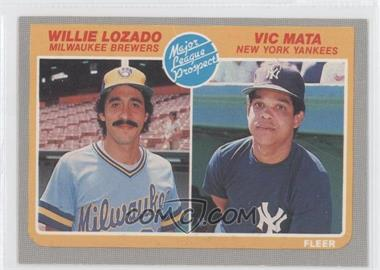 1985 Fleer #644 - Willie Lozado, Victor Mata
