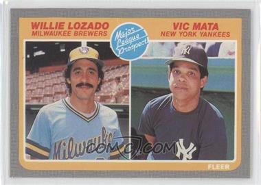 1985 Fleer #644 - Willie Lozado, Victor Mata