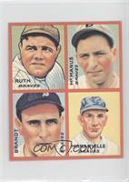 Babe Ruth, Marty McManus, Ed Brandt, Rabbit Maranville