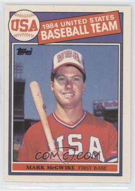 1985 Topps - [Base] - Box Set Collector's Edition (Tiffany) #401 - Mark McGwire