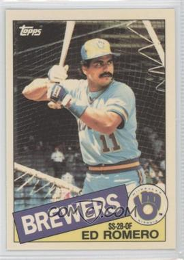 1985 Topps - [Base] - Box Set Collector's Edition (Tiffany) #498 - Ed Romero
