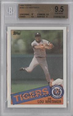 1985 Topps - [Base] #480 - Lou Whitaker [BGS9.5]