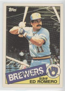 1985 Topps Box Set Collector's Edition (Tiffany) #498 - Ed Romero