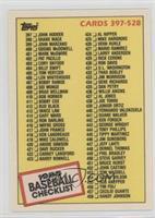 Checklist - Cards 397-528