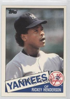 1985 Topps Traded Box Set Collector's Edition (Tiffany) #49T - Rickey Henderson