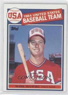 1985 Topps #401 - Mark McGwire