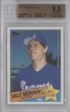 1985 Topps #716 - Dale Murphy [BGS9.5]