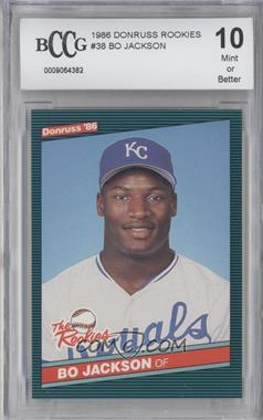 1986 Donruss The Rookies - Box Set [Base] #38 - Bo Jackson [ENCASED]