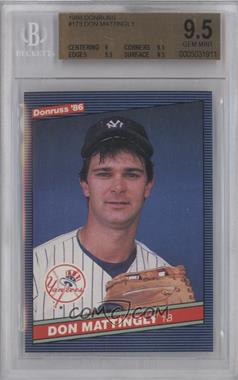 1986 Donruss #173 - Don Mattingly [BGS 9.5]