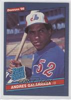 Andres Galarraga (Error: No Accent Mark over Name on Back)