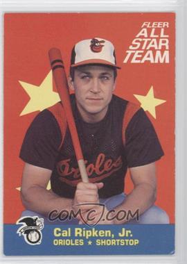 1986 Fleer - All Star Team #5 - Cal Ripken Jr.
