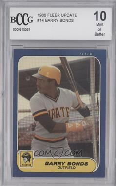 1986 Fleer Update Factory Set [Base] #U-14 - Barry Bonds [ENCASED]