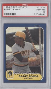 1986 Fleer Update Factory Set [Base] #U-14 - Barry Bonds [PSA 10]