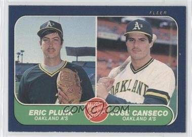 1986 Fleer #649 - Eric Plunk, Jose Canseco