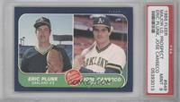 Eric Plunk, Jose Canseco [PSA 9]