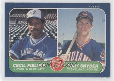 1986 Fleer #653 - Cecil Fielder, Cory Snyder