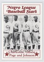 Oscar Charleston, Josh Gibson, Satchel Paige, Judy Johnson