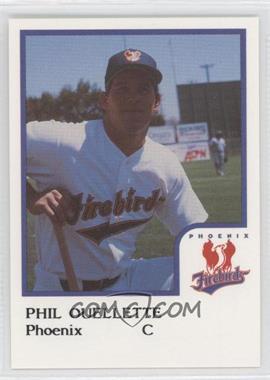 1986 ProCards Phoenix Firebirds #PHOU - Phil Ouellette