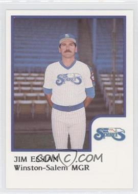 1986 ProCards Winston-Salem Spirits #N/A - Jim Essian