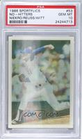 Phil Niekro, Jerry Reuss, Mike Witt [PSA 10]