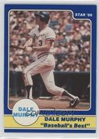 Dale Murphy Puzzle Back (post-swing bat in front about to break for first)