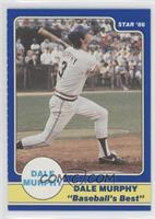 Dale Murphy Puzzle Back (swing followthrough bat over shoulder)