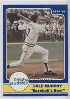 Dale Murphy Puzzle Back (swing followthrough bat over shoulder)