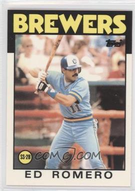 1986 Topps - [Base] - Box Set Collector's Edition (Tiffany) #317 - Ed Romero