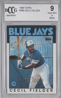 1986 Topps - [Base] #386 - Cecil Fielder [ENCASED]