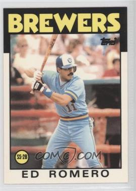 1986 Topps Box Set [Base] Collector's Edition (Tiffany) #317 - Ed Romero