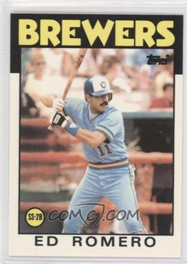 1986 Topps Collector's Edition (Tiffany) #317 - Ed Romero