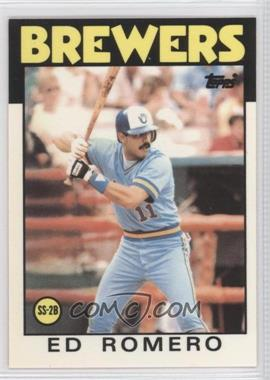 1986 Topps Collector's Edition (Tiffany) #317 - Ed Romero