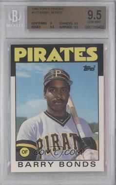1986 Topps Traded - [Base] #11T - Barry Bonds [BGS9.5]