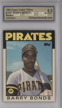 1986 Topps Traded Collector's Edition (Tiffany) #11T - Barry Bonds [ENCASED]