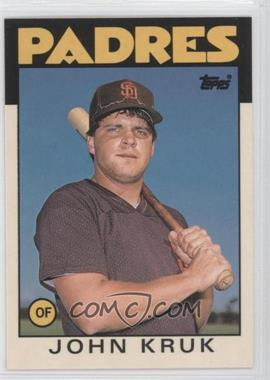 1986 Topps Traded Collector's Edition (Tiffany) #56T - John Kruk